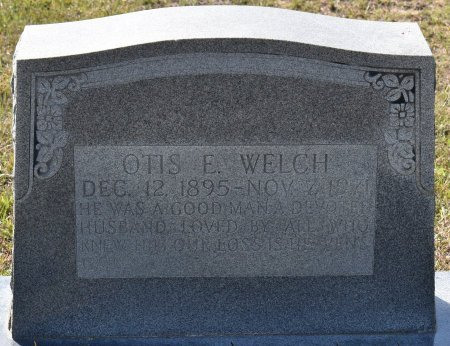 WELCH, OTIS ELMER (CLOSE UP) - Vernon County, Louisiana | OTIS ELMER (CLOSE UP) WELCH - Louisiana Gravestone Photos