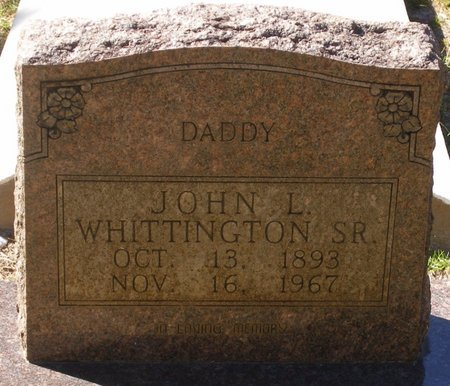 WHITTINGTON, JOHN L, SR - Vernon County, Louisiana   JOHN L, SR WHITTINGTON - Louisiana Gravestone Photos