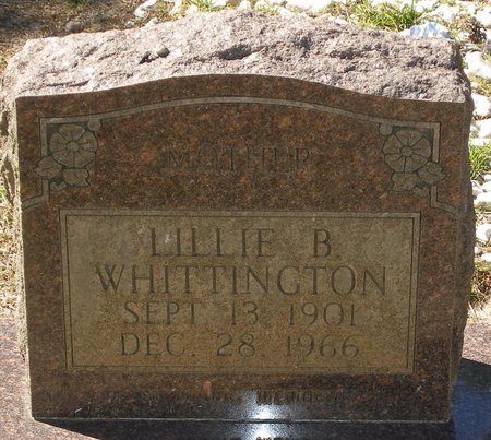 WHITTINGTON, LILLIE B - Vernon County, Louisiana | LILLIE B WHITTINGTON - Louisiana Gravestone Photos