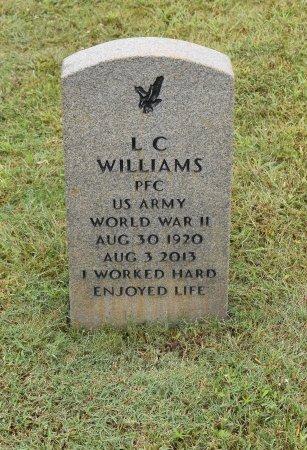 WILLIAMS  , L C (VETERAN WWII) - Vernon County, Louisiana | L C (VETERAN WWII) WILLIAMS   - Louisiana Gravestone Photos