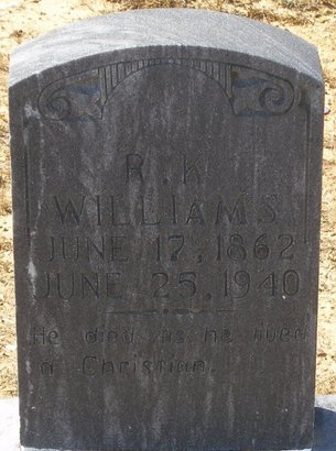 WILLIAMS, R K - Vernon County, Louisiana | R K WILLIAMS - Louisiana Gravestone Photos