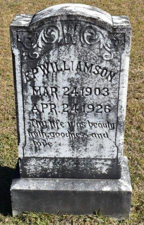 WILLIAMSON, E P - Vernon County, Louisiana   E P WILLIAMSON - Louisiana Gravestone Photos