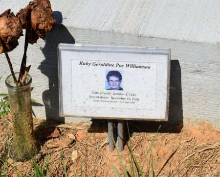 WILLIAMSON, RUBY GERALDINE - Vernon County, Louisiana | RUBY GERALDINE WILLIAMSON - Louisiana Gravestone Photos