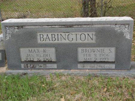 BABINGTON, MAX KENNETH - Washington County, Louisiana | MAX KENNETH BABINGTON - Louisiana Gravestone Photos