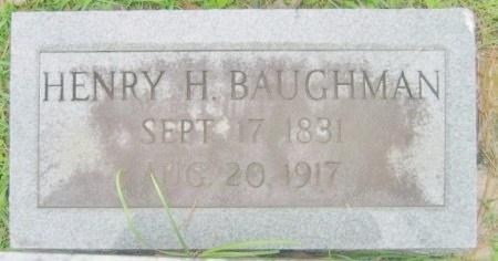 BAUGHMAN, HENRY H  (2ND STONE) - Washington County, Louisiana | HENRY H  (2ND STONE) BAUGHMAN - Louisiana Gravestone Photos