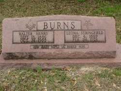 STRINGFIELD BURNS, SARAH LEONA - Washington County, Louisiana | SARAH LEONA STRINGFIELD BURNS - Louisiana Gravestone Photos