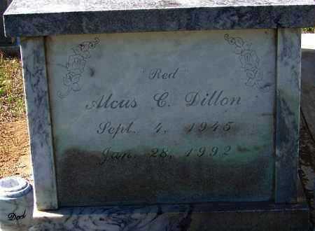 """DILLON, ALCUS C  """"RED"""" - Washington County, Louisiana   ALCUS C  """"RED"""" DILLON - Louisiana Gravestone Photos"""