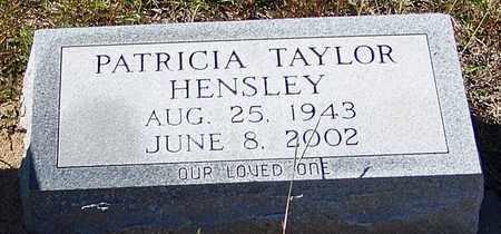 HENSLEY, PATRICIA - Washington County, Louisiana   PATRICIA HENSLEY - Louisiana Gravestone Photos