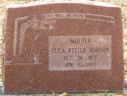 JORDAN, ELIZA MARY RESTER - Washington County, Louisiana | ELIZA MARY RESTER JORDAN - Louisiana Gravestone Photos