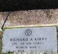 KIRBY, RICHARD A (VETERAN WWII) - Washington County, Louisiana   RICHARD A (VETERAN WWII) KIRBY - Louisiana Gravestone Photos