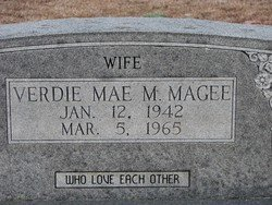 MAGEE, VERDIE MAE  (CLOSEUP) - Washington County, Louisiana | VERDIE MAE  (CLOSEUP) MAGEE - Louisiana Gravestone Photos