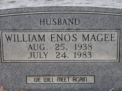 MAGEE, WILLIAM ENOS  (CLOSEUP) - Washington County, Louisiana   WILLIAM ENOS  (CLOSEUP) MAGEE - Louisiana Gravestone Photos