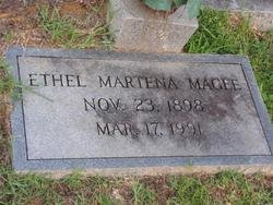 MAGEE, ETHEL MARTENA - Washington County, Louisiana | ETHEL MARTENA MAGEE - Louisiana Gravestone Photos