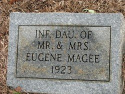 MAGEE, INFANT DAUGHTER - Washington County, Louisiana | INFANT DAUGHTER MAGEE - Louisiana Gravestone Photos