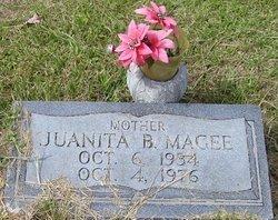 MAGEE, JUANITA B - Washington County, Louisiana | JUANITA B MAGEE - Louisiana Gravestone Photos