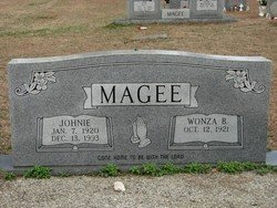 MAGEE, WONZA - Washington County, Louisiana | WONZA MAGEE - Louisiana Gravestone Photos
