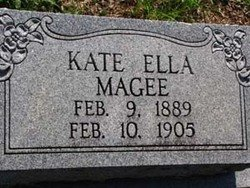 MAGEE, KATE ELLA - Washington County, Louisiana | KATE ELLA MAGEE - Louisiana Gravestone Photos