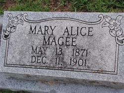 MAGEE, MARY ALICE - Washington County, Louisiana | MARY ALICE MAGEE - Louisiana Gravestone Photos