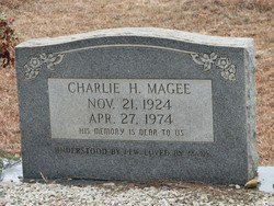 "MAGEE, CHARLES HUGH ""CHARLIE""   (VETERAN WWII) - Washington County, Louisiana 