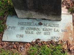 MAGEE, HEZEKIAH, SR (VETERAN 1812) - Washington County, Louisiana   HEZEKIAH, SR (VETERAN 1812) MAGEE - Louisiana Gravestone Photos