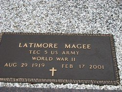 "MAGEE, LATIMORE W ""LAT""  (VETERAN WWII) - Washington County, Louisiana 