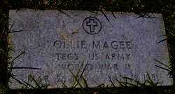 MAGEE, OLLIE (VETERAN WWII) - Washington County, Louisiana   OLLIE (VETERAN WWII) MAGEE - Louisiana Gravestone Photos