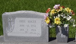 MAGEE, OBIE - Washington County, Louisiana   OBIE MAGEE - Louisiana Gravestone Photos