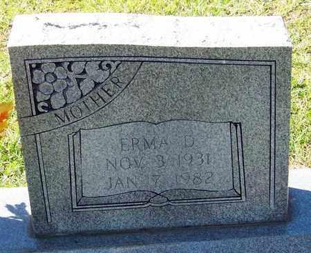 MCINTYRE  , ERMA D  (CLOSEUP) - Washington County, Louisiana   ERMA D  (CLOSEUP) MCINTYRE   - Louisiana Gravestone Photos