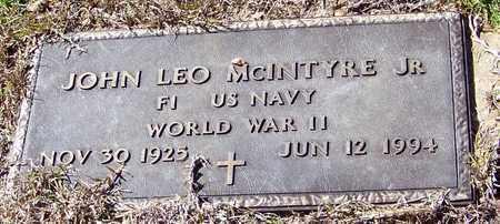 MCINTYRE, JOHN LEO, JR (VETERAN WWII) - Washington County, Louisiana   JOHN LEO, JR (VETERAN WWII) MCINTYRE - Louisiana Gravestone Photos