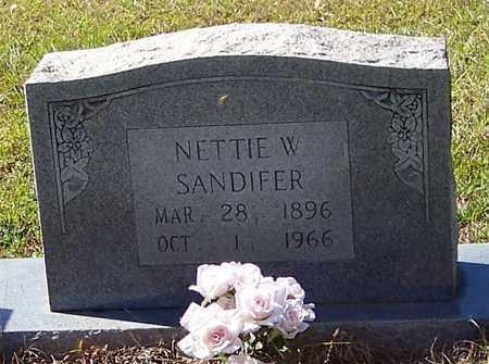 SANDIFER, NETTIE W - Washington County, Louisiana   NETTIE W SANDIFER - Louisiana Gravestone Photos