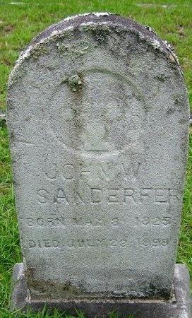 SANDERFER, JOHN WASHINGTON  (VETERAN CSA) - Washington County, Louisiana   JOHN WASHINGTON  (VETERAN CSA) SANDERFER - Louisiana Gravestone Photos