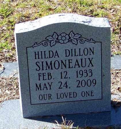 DILLON SIMONEAUX, HILDA - Washington County, Louisiana   HILDA DILLON SIMONEAUX - Louisiana Gravestone Photos
