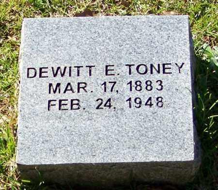 TONEY, DEWITT E - Washington County, Louisiana | DEWITT E TONEY - Louisiana Gravestone Photos