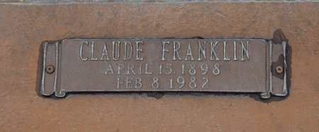 ANDERSON, CLAUDE FRANKLIN (CLOSE UP) - Webster County, Louisiana | CLAUDE FRANKLIN (CLOSE UP) ANDERSON - Louisiana Gravestone Photos