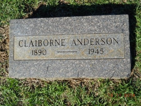 ANDERSON, CLAIBORNE - Webster County, Louisiana | CLAIBORNE ANDERSON - Louisiana Gravestone Photos