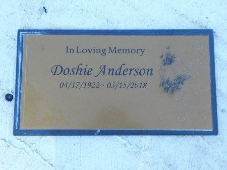 ANDERSON, DOSHIE - Webster County, Louisiana | DOSHIE ANDERSON - Louisiana Gravestone Photos