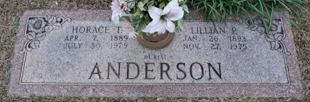 ANDERSON, HORACE T - Webster County, Louisiana | HORACE T ANDERSON - Louisiana Gravestone Photos