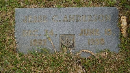 ANDERSON, JESSE C - Webster County, Louisiana | JESSE C ANDERSON - Louisiana Gravestone Photos