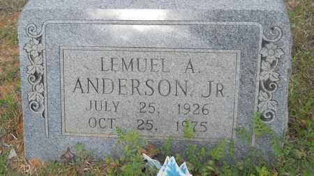 ANDERSON, LEMUEL A, JR - Webster County, Louisiana   LEMUEL A, JR ANDERSON - Louisiana Gravestone Photos