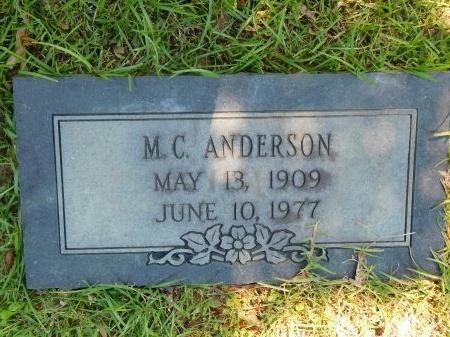 ANDERSON, M C - Webster County, Louisiana   M C ANDERSON - Louisiana Gravestone Photos