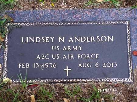 ANDERSON  , LINDSEY N (VETERAN) - Webster County, Louisiana   LINDSEY N (VETERAN) ANDERSON   - Louisiana Gravestone Photos
