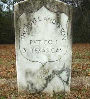ANDERSON, THOMAS L (VETERAN UNION) - Webster County, Louisiana | THOMAS L (VETERAN UNION) ANDERSON - Louisiana Gravestone Photos