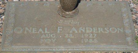 ANDERSON, O'NEAL F - Webster County, Louisiana   O'NEAL F ANDERSON - Louisiana Gravestone Photos