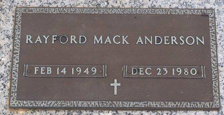 ANDERSON, RAYFORD MACK - Webster County, Louisiana   RAYFORD MACK ANDERSON - Louisiana Gravestone Photos
