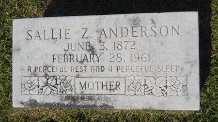 ANDERSON, SALLIE Z - Webster County, Louisiana | SALLIE Z ANDERSON - Louisiana Gravestone Photos
