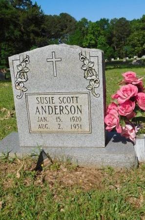 ANDERSON, SUSIE - Webster County, Louisiana | SUSIE ANDERSON - Louisiana Gravestone Photos