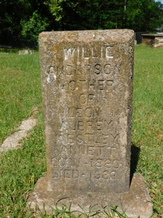 ANDERSON, WILLIE - Webster County, Louisiana | WILLIE ANDERSON - Louisiana Gravestone Photos