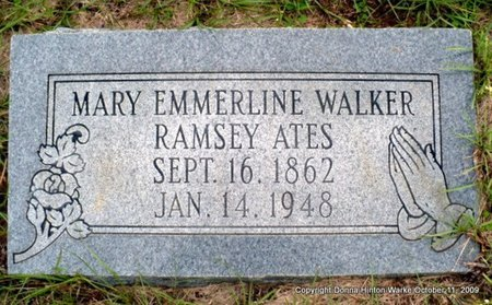 ATES, MARY EMMERLINE - Webster County, Louisiana | MARY EMMERLINE ATES - Louisiana Gravestone Photos