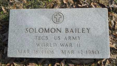 BAILEY, SOLOMON (VETERAN WWII) - Webster County, Louisiana   SOLOMON (VETERAN WWII) BAILEY - Louisiana Gravestone Photos