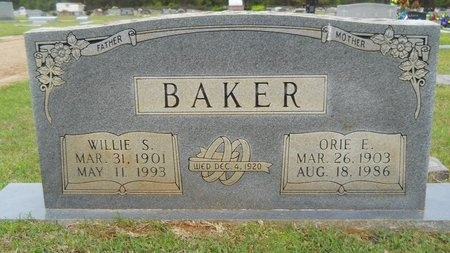 BAKER, ORIE E - Webster County, Louisiana | ORIE E BAKER - Louisiana Gravestone Photos